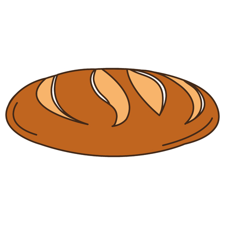 toasted: delicious bread isolated icon vector illustration design