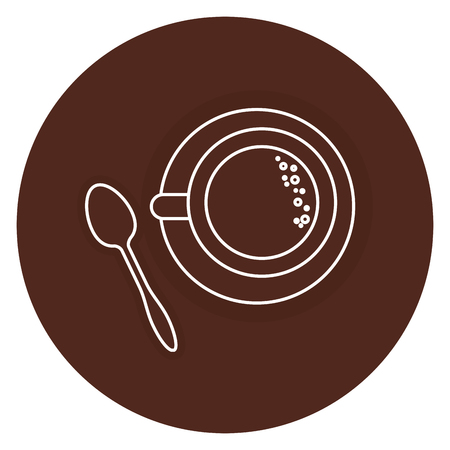 coffee cup with spoon vector illustration design