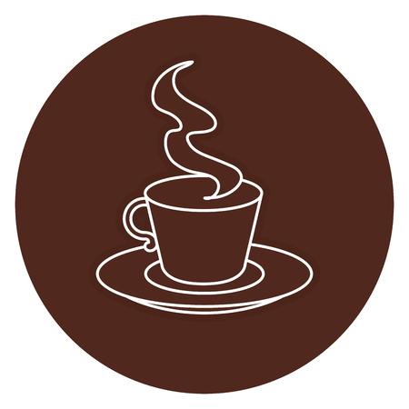 ontwerp van de het pictogram vectorillustratie van de koffiekop het hete Stock Illustratie