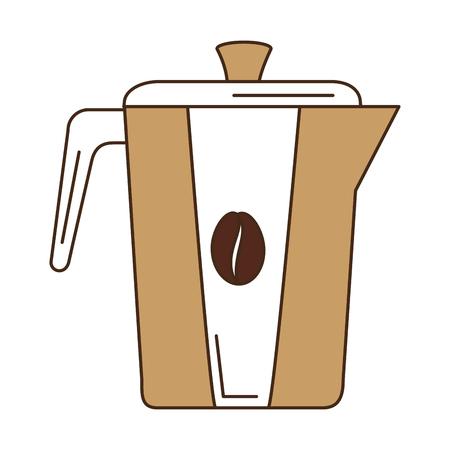 Bollitore caffè isolato icona illustrazione vettoriale illustrazione Archivio Fotografico - 83786966