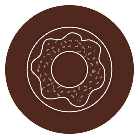 甘いドーナツ分離アイコン ベクトル イラスト デザイン