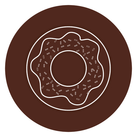 sweet donuts isolated icon vector illustration design