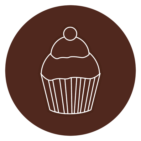 sweet cupcake isolated icon vector illustration design Illustration