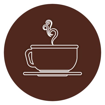 커피 컵 뜨거운 아이콘 벡터 일러스트 레이 션 디자인