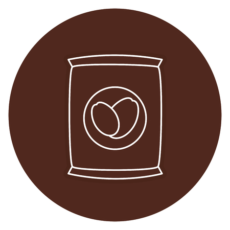 coffee sack isolated icon vector illustration design Banco de Imagens - 83797269