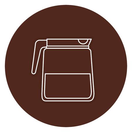 Bollitore caffè isolato icona illustrazione vettoriale illustrazione Archivio Fotografico - 83798522
