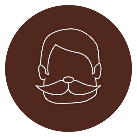 Hombre con bigote avatar carácter ilustración vectorial diseño Foto de archivo - 83798523