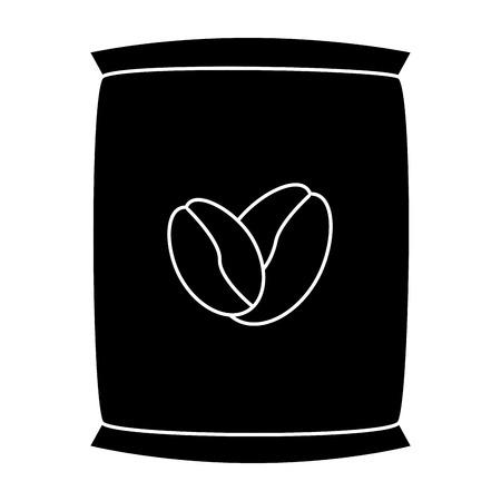 Vector de illustratieontwerp van het koffiezak geïsoleerd pictogram