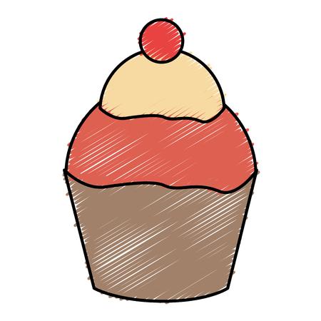 달콤한 먹고 절연 아이콘 벡터 일러스트 디자인