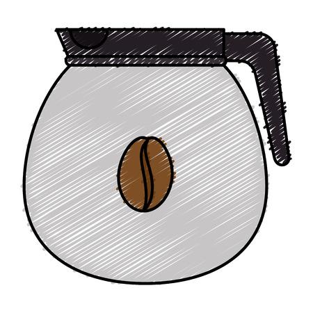 Bollitore caffè isolato icona illustrazione vettoriale illustrazione Archivio Fotografico - 83788516