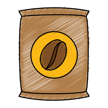 Coffee sack isolated icon vector illustration design Ilustração