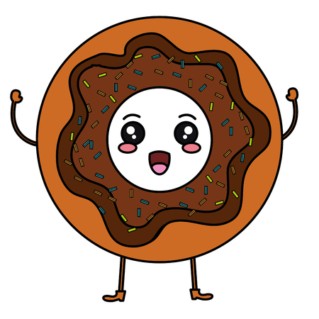 Sweet donuts character vector illustration design Stock fotó - 83788544