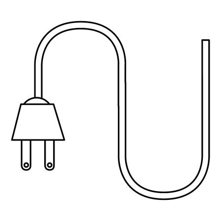 câble à l & # 39 ; énergie icône isolé conception de vecteur d & #