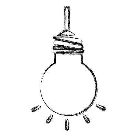 電球ぶら下がって分離アイコン ベクトル イラスト デザイン