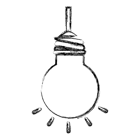 bulb light hanging isolated icon vector illustration design Ilustração
