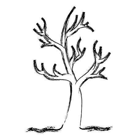dead tree: dry tree isolated icon vector illustration design Illustration