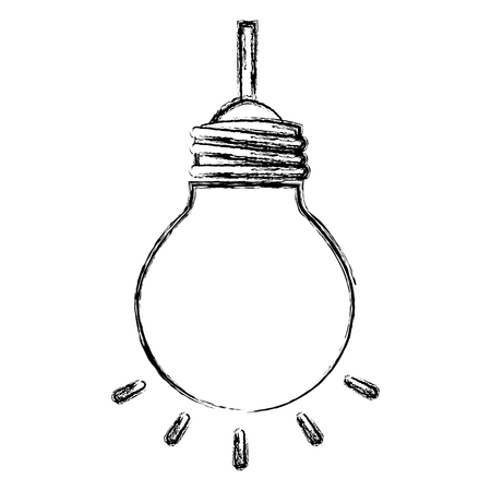bulb light hanging isolated icon vector illustration design Çizim