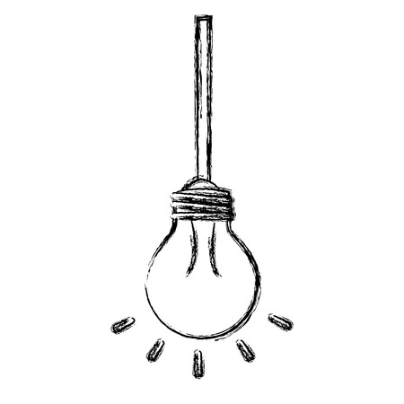 Bulb light hanging isolated icon vector illustration design