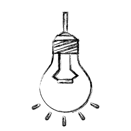 Bulb light hanging isolated icon vector illustration design Imagens - 83791802