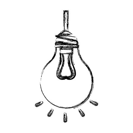 전구 빛 매달려 격리 된 아이콘 벡터 일러스트 디자인 일러스트