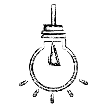 Bulb light hanging isolated icon vector illustration design Banco de Imagens - 83791887