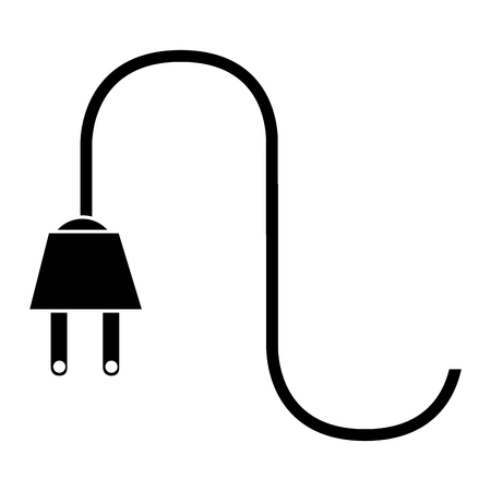 energy power cable isolated icon vector illustration design
