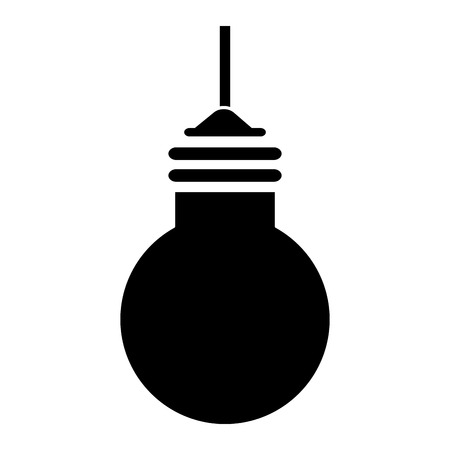 bulb light hanging isolated icon vector illustration design Banco de Imagens