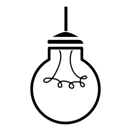bulb light hanging isolated icon vector illustration design Stock Photo