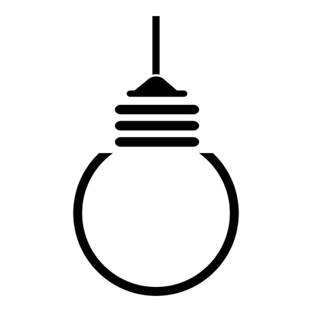 bulb light hanging isolated icon vector illustration design Stock Photo