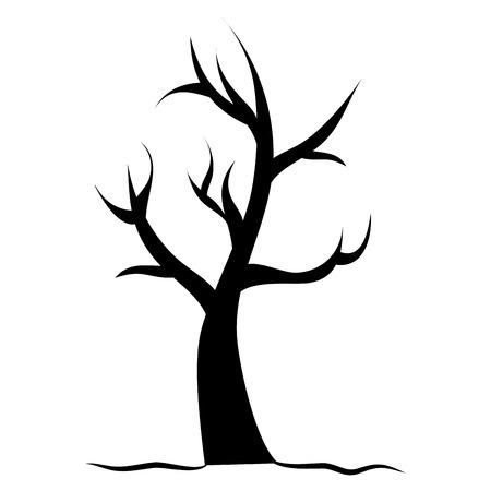 分離した乾燥木アイコン ベクトル イラスト デザイン