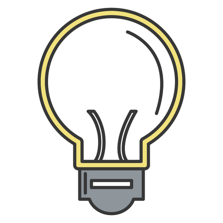 전구 빛 격리 아이콘 벡터 일러스트 디자인
