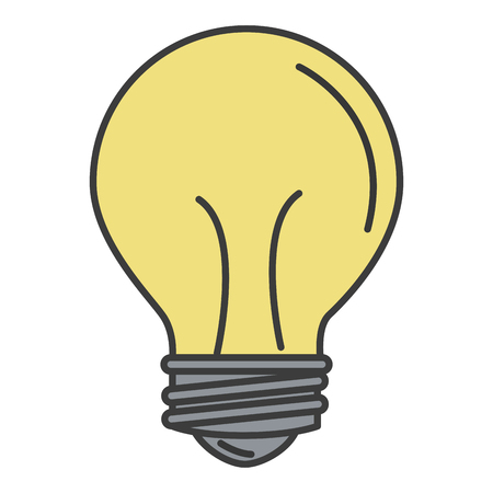 전구 빛 절연 아이콘 벡터 일러스트 디자인 일러스트