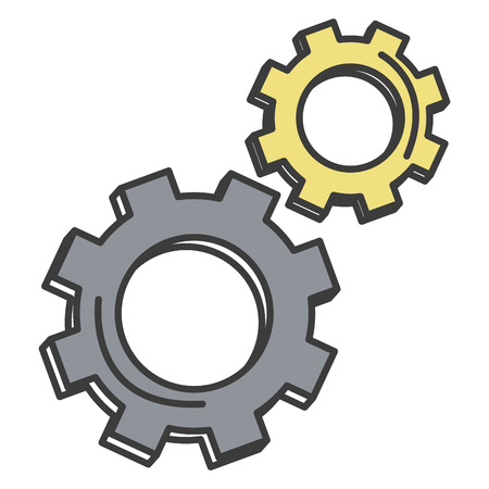 Gear machine isolated icon vector illustration design