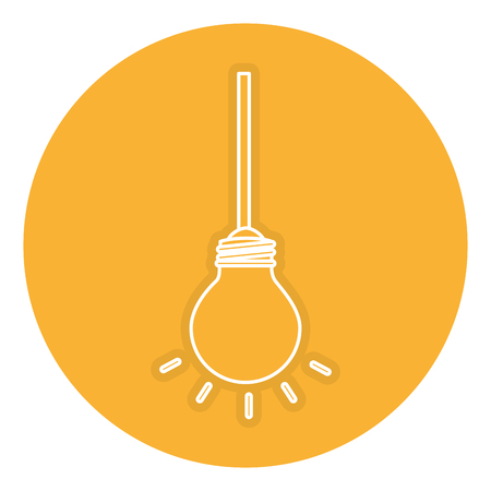 A bulb light hanging isolated icon vector illustration design. Illustration