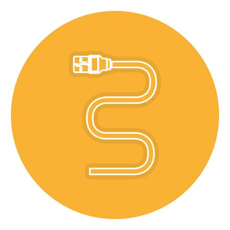 Een vector de illustratieontwerp van het usb kabel geïsoleerd pictogram. Stock Illustratie