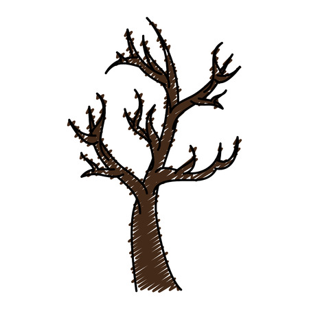 dry tree isolated icon vector illustration design Ilustração