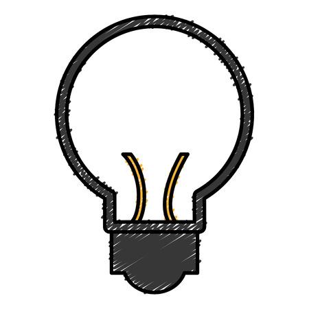 Bulb light icon design.