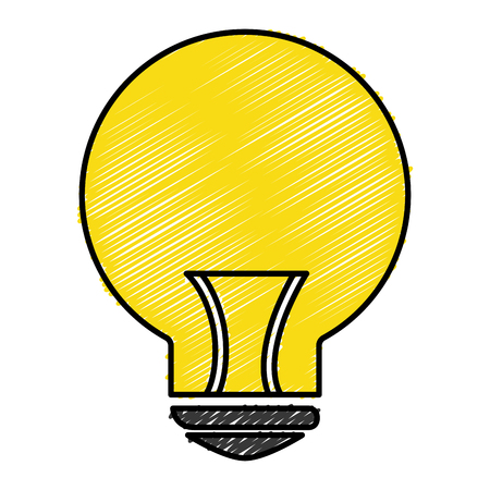 Bulb light icon illustration.