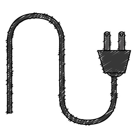 エネルギー電源ケーブル分離アイコン ベクトル イラスト デザイン