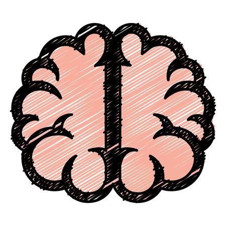 science symbols metaphors: brain storming isolated icon vector illustration design