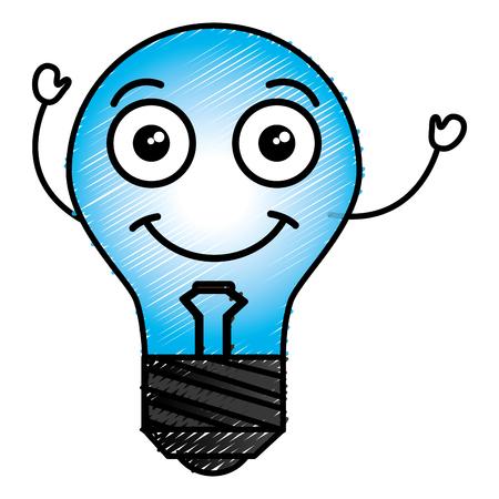 Bulb light character vector illustration design Illustration