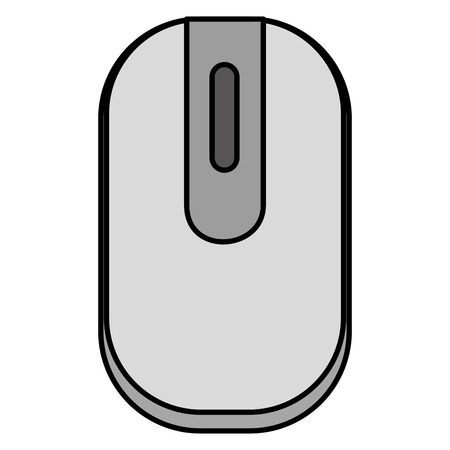 Een vector de illustratieontwerp van het computermuis geïsoleerd pictogram. Stock Illustratie