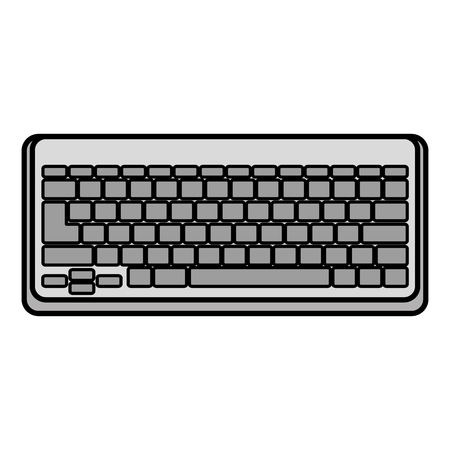 computer keyboard isolated icon vector illustration design Stock Photo