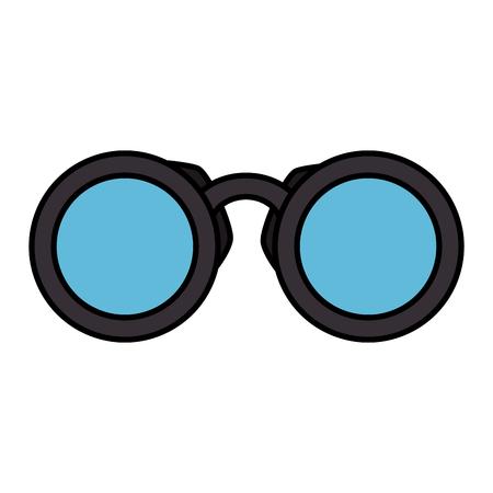 Vector de illustratieontwerp van het verrekijkersapparaat geïsoleerd pictogram