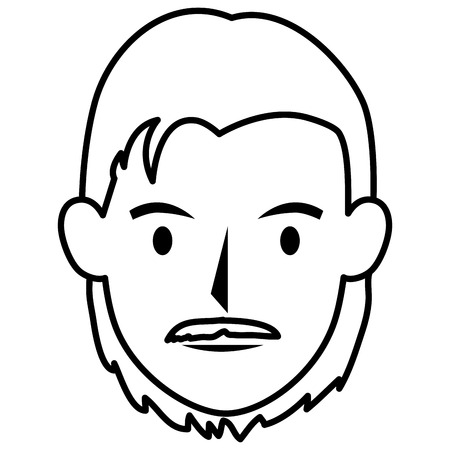 smart boy: young man head avatar character vector illustration design Illustration