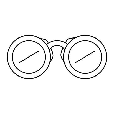 verrekijker apparaat geïsoleerd pictogram vector illustratie ontwerp