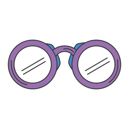 Verrekijker apparaat geïsoleerd pictogram vector illustratie ontwerp Stockfoto - 83790726