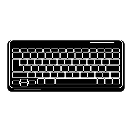 computer keyboard isolated icon vector illustration design Ilustrace