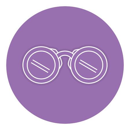 A binoculars device isolated icon vector illustration design.