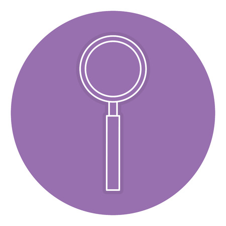 A magnifying glass isolated icon vector illustration design.